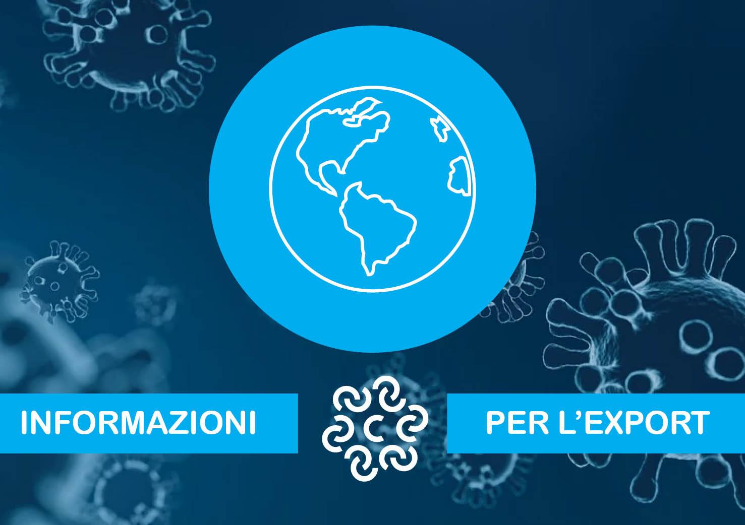 Comunicati e informazioni per le aziende che operano con l''estero