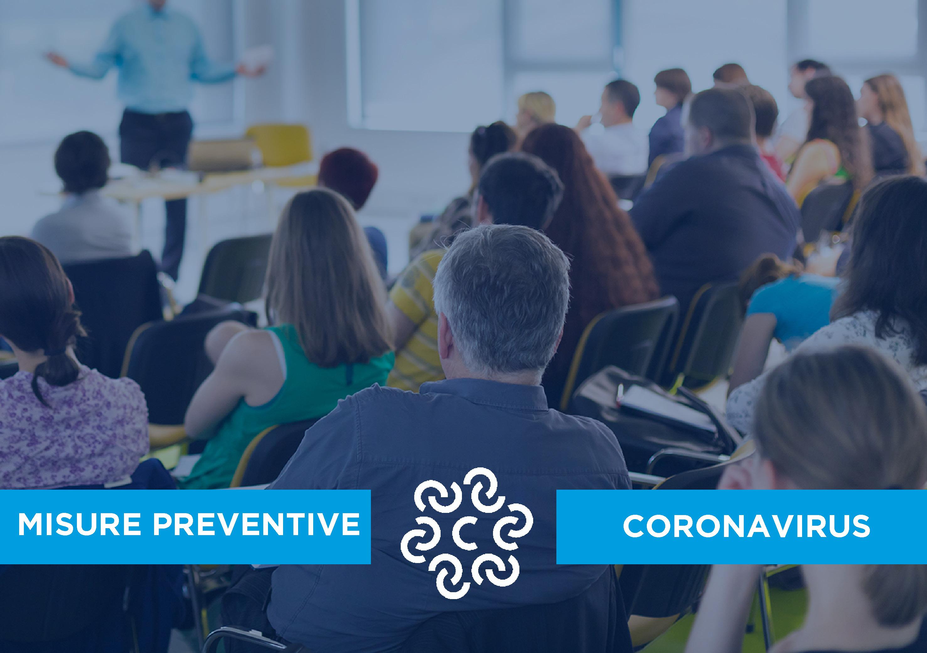 Misure preventive adottate dall''Ente camerale in relazione al Coronavirus