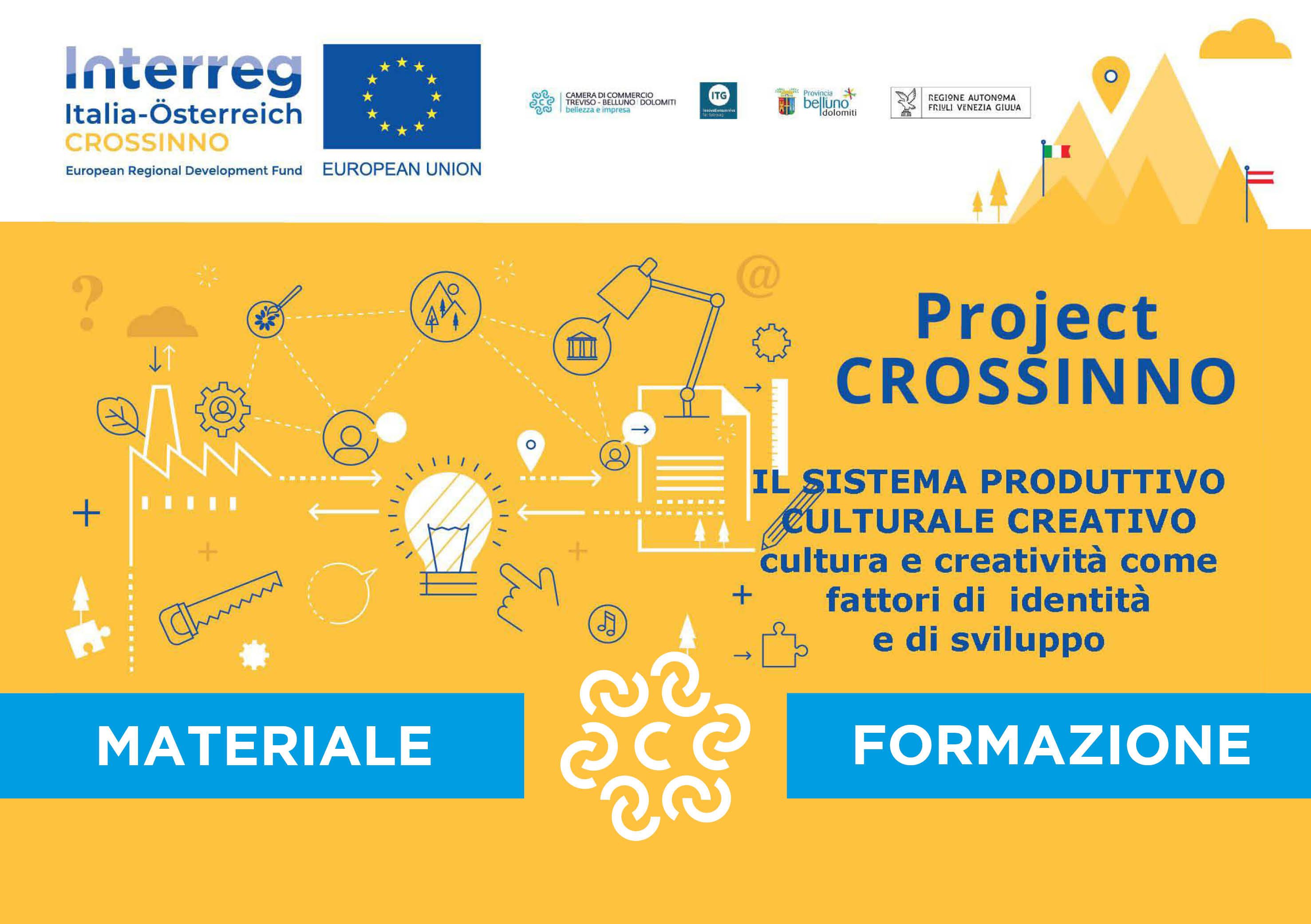 Progetto CROSSINNO � Interreg Italia-Austria. Impresa, cultura e creativit� come fattori di identit� e sviluppo economico