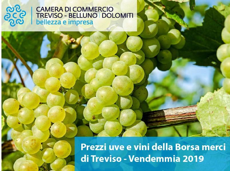 Listino prezzi uve e vini Borsa merci di Treviso - Vendemmia 2019